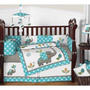 Mod Elephant 9 Piece Crib Bedding Set