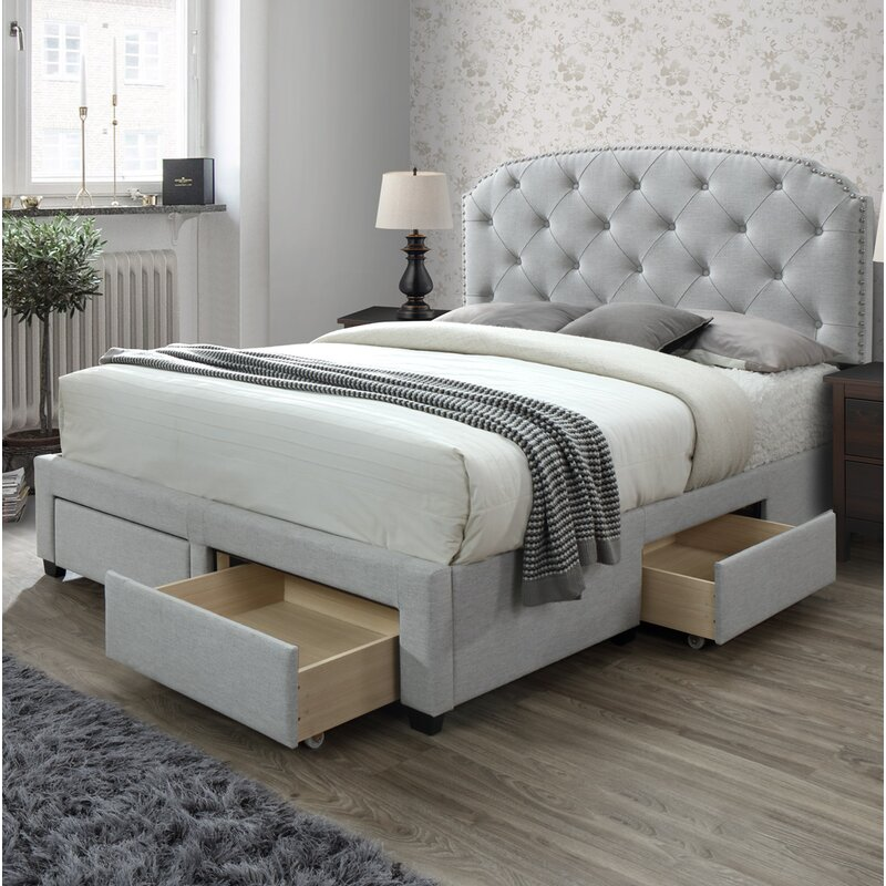 336b5dfcc652 Abbingt Upholstered Storage Standard Bed & Reviews | Joss & Main