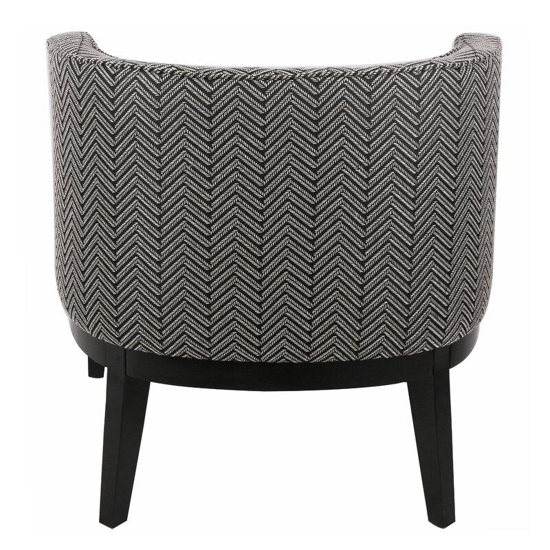 Charming Blondene Herringbone Low Back Barrel Chair