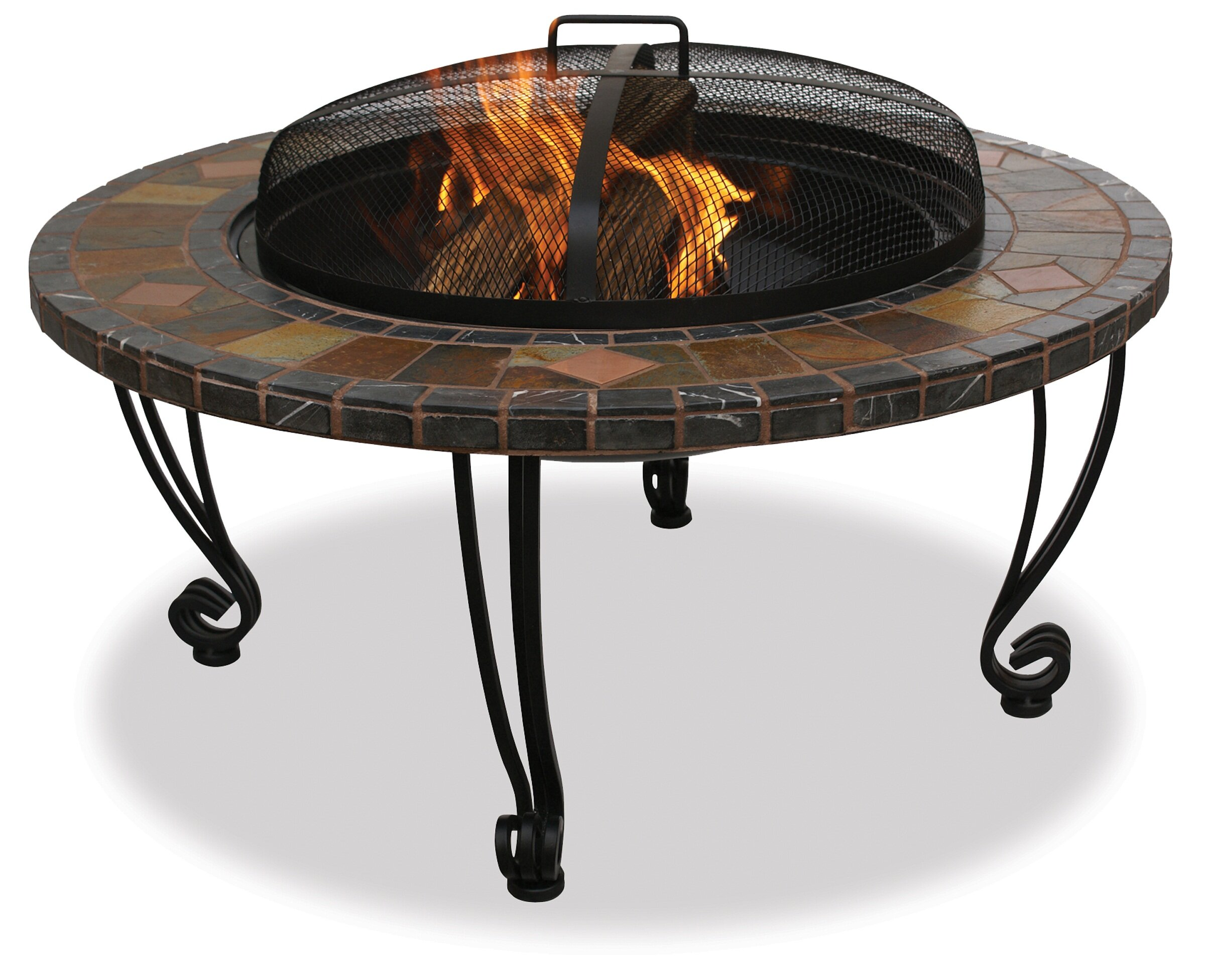 Exceptionnel Blue Rhino Uniflame Wrought Iron Wood Burning Fire Pit Table | Wayfair