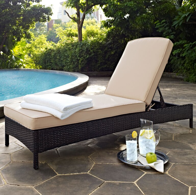 Belton Chaise Lounge with Cushion : patio chaise lounge chair - Sectionals, Sofas & Couches