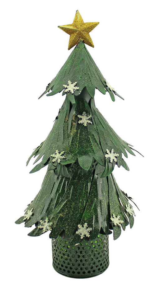 Wine Bottle Christmas Tree Rack.Shimmering Christmas Tree With Star And Snowflakes 1 Bottle Tabletop Wine Holder