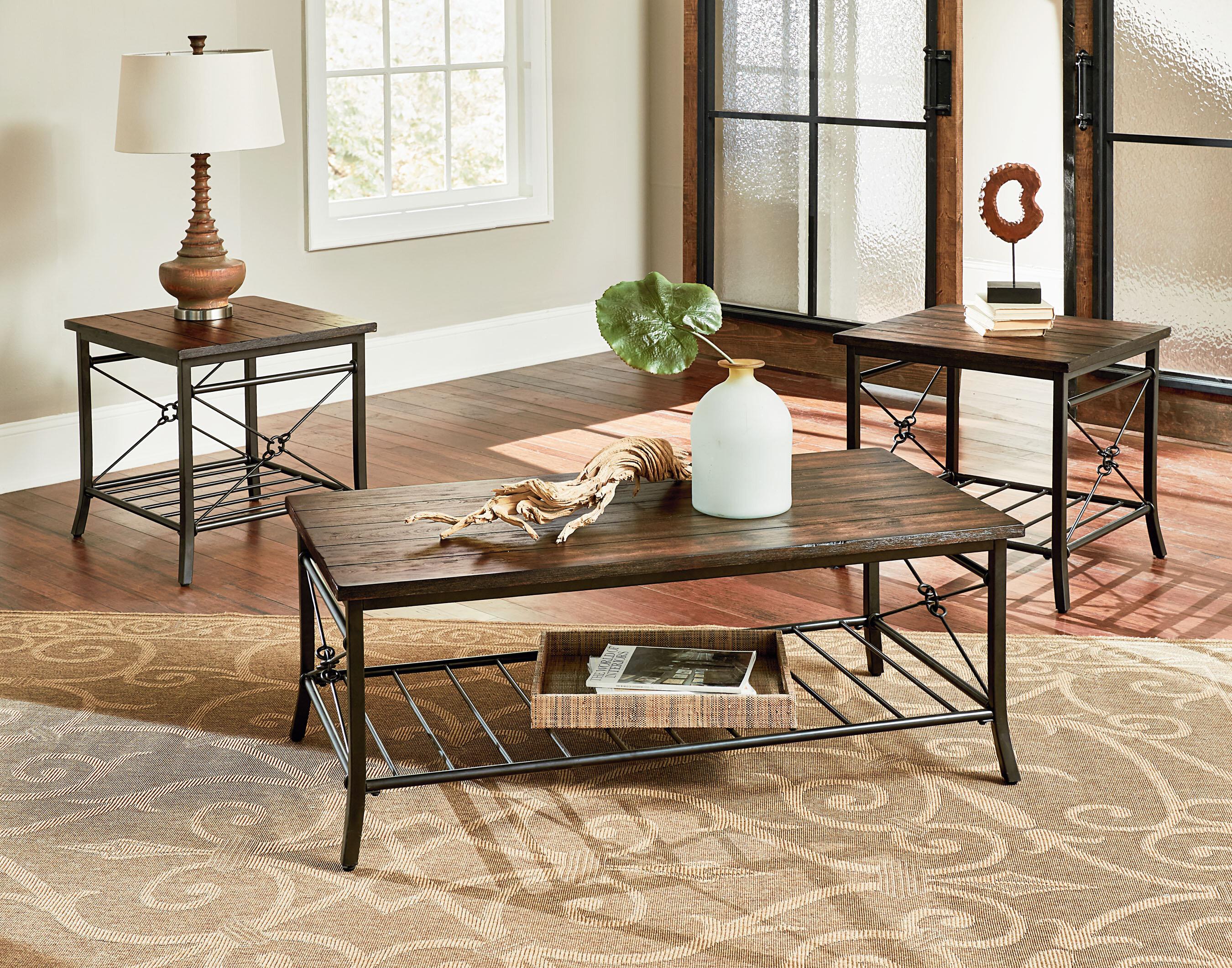 Loon Peak Kellner 3 Piece Coffee Table Set U0026 Reviews   Wayfair
