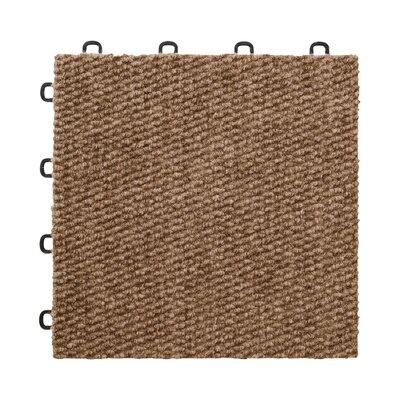 "12"" X 12"" Premium Interlocking Basement Floor Carpet Tile In Brown Blocktile"