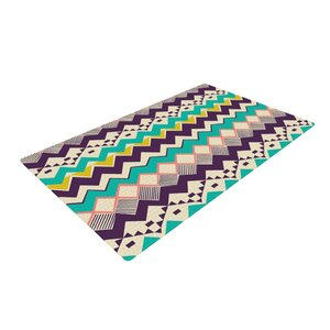 Louise Machado Ethnic Color Teal/Purple Area Rug