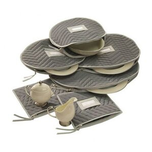 Microfiber Serveware Storage 6 Piece Dining Plates Set