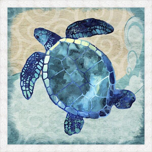 Ashton Wall D 233 Cor Llc Coastal Sea Turtle Framed Graphic Art Wayfair