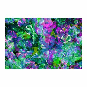 Ebi Emporium Bloom on! Exotic Green/Purple Area Rug