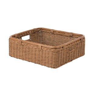 Charmant Wide Storage Shelf Wicker/Rattan Basket