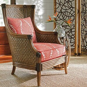 twin palms coral reef wingback chair