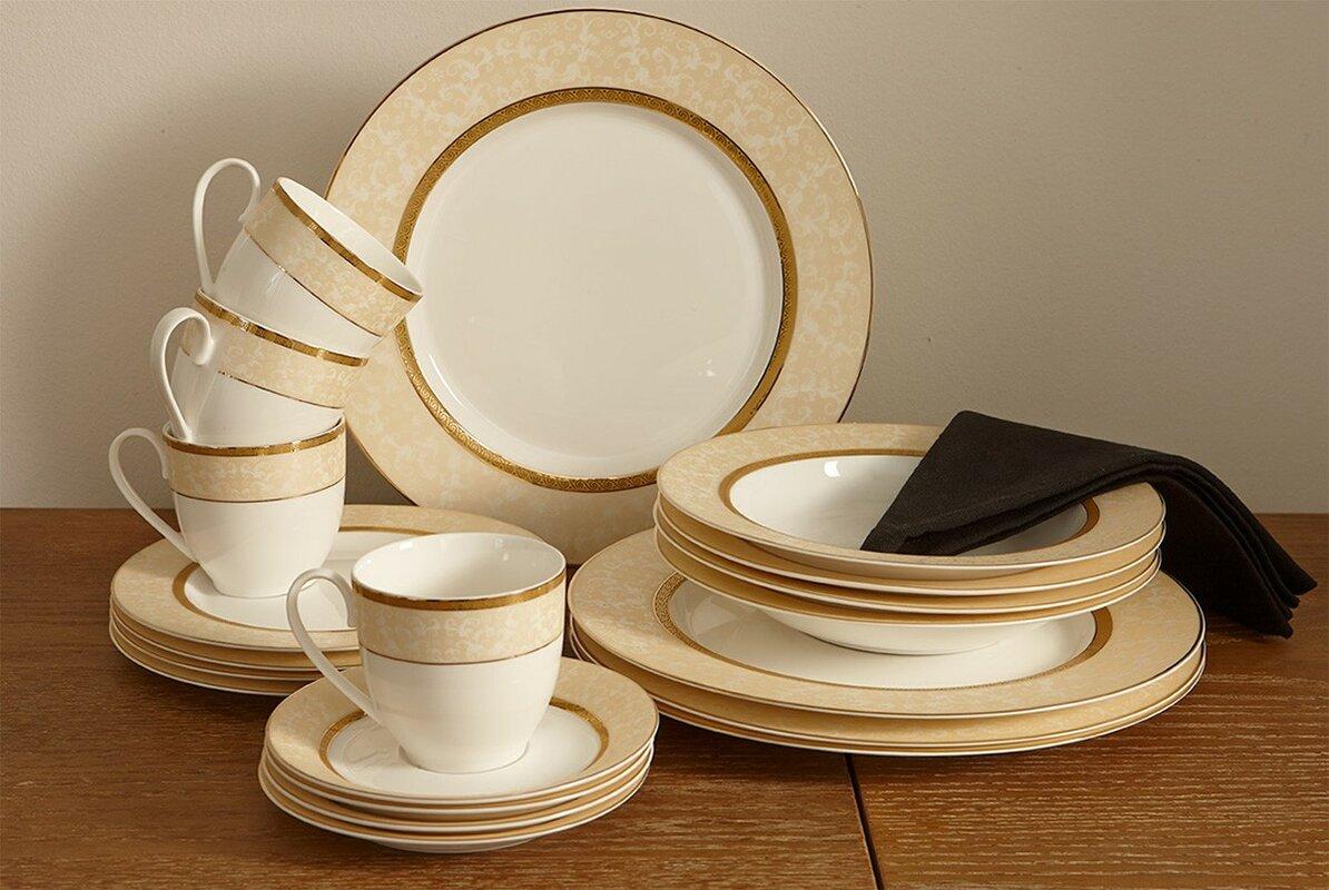 Flato Home Forest Bone China 20 Piece Dinnerware Set