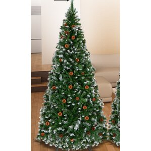 snow tipped 6 green pine artificial christmas tree - Snow Christmas Tree