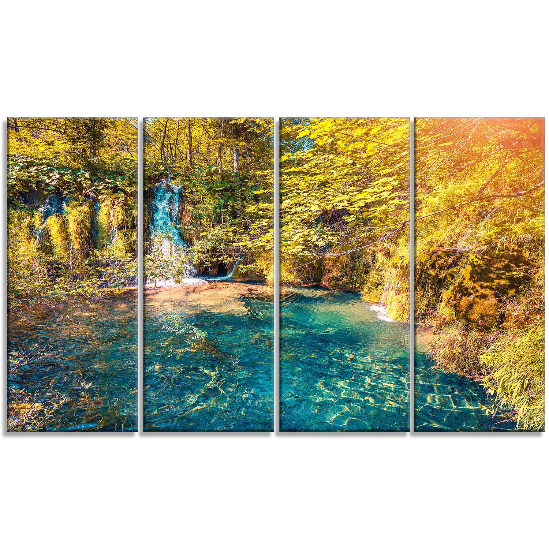 DesignArt \'Plitvice Lakes National Park\' 4 Piece Photographic Print ...