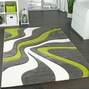 Emily Green/Grey/White Rug by Longweave