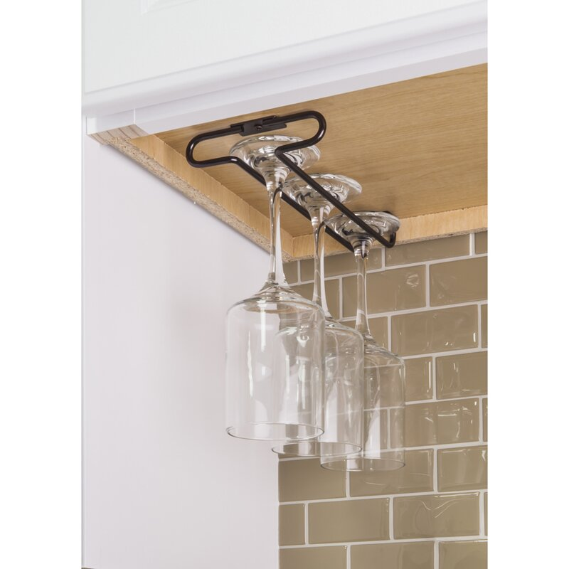 Under Cabinet Hanging Wine Glass Rack