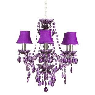 Purple chandeliers wayfair save to idea board aloadofball Images