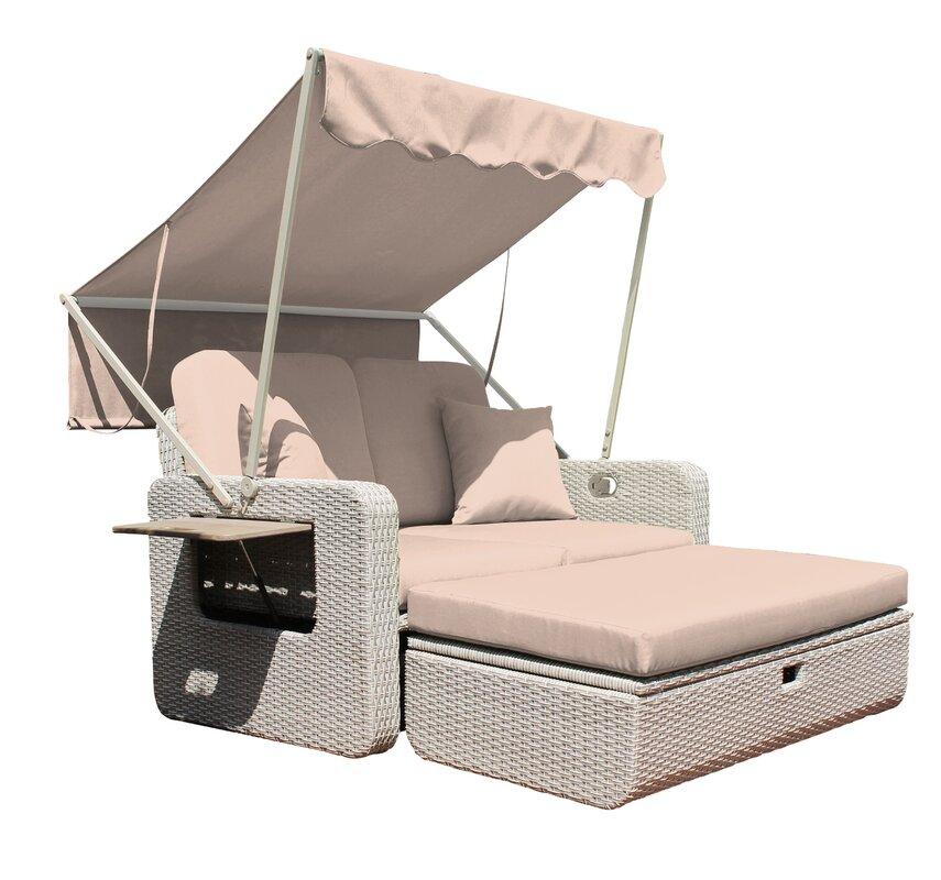 all home strandkorb mit kissen. Black Bedroom Furniture Sets. Home Design Ideas