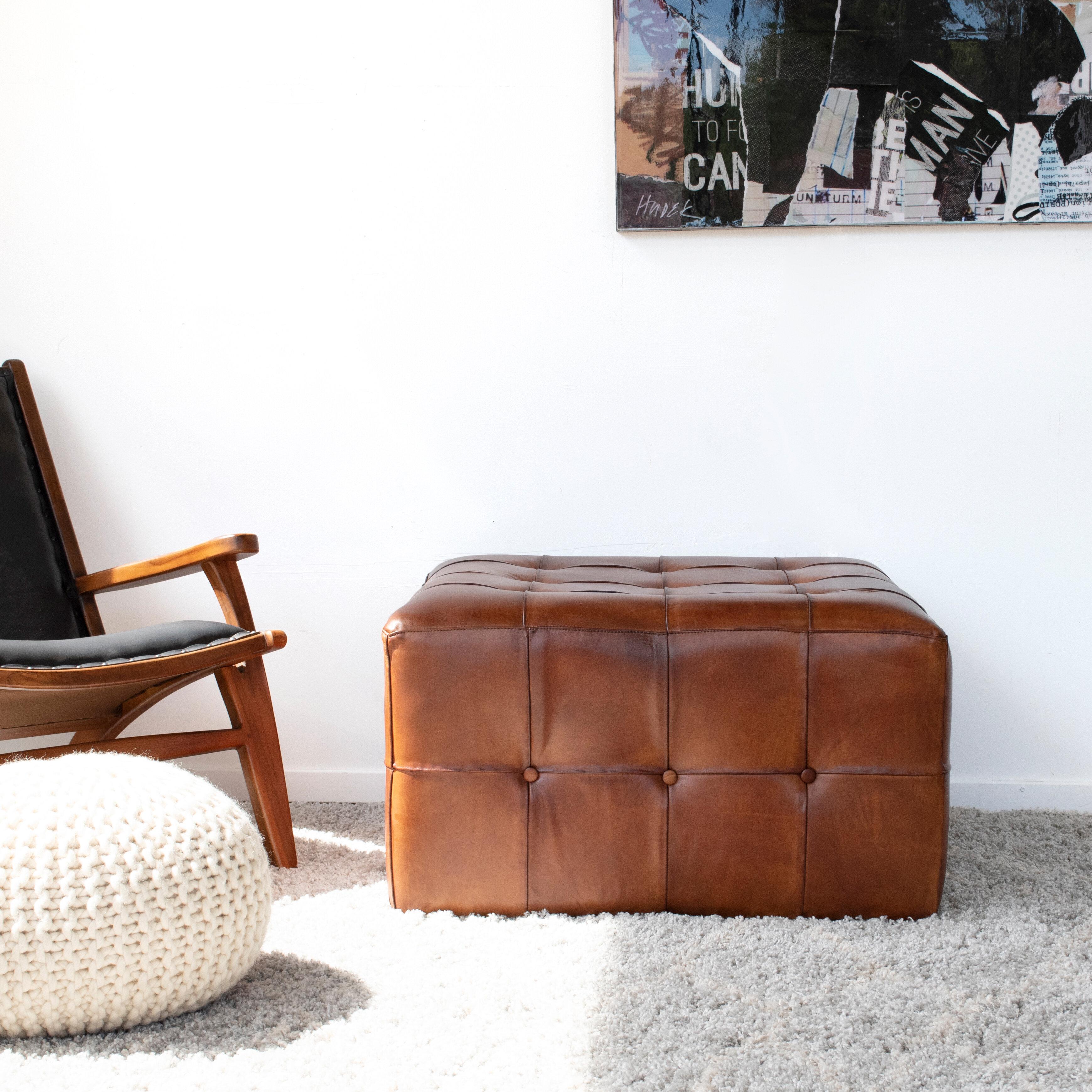 Fine Guidi Chester Leather Tufted Ottoman Uwap Interior Chair Design Uwaporg