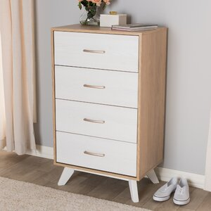 Oyola Mid Century 4 Drawer Che...