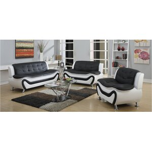 Machelle 3 Piece Living Room Set by Orren Ellis