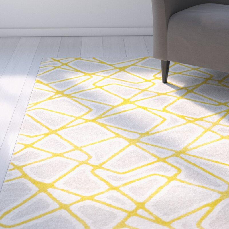 Yellow Area Rugs Surya Horizon Geometric Area Rug Yellow