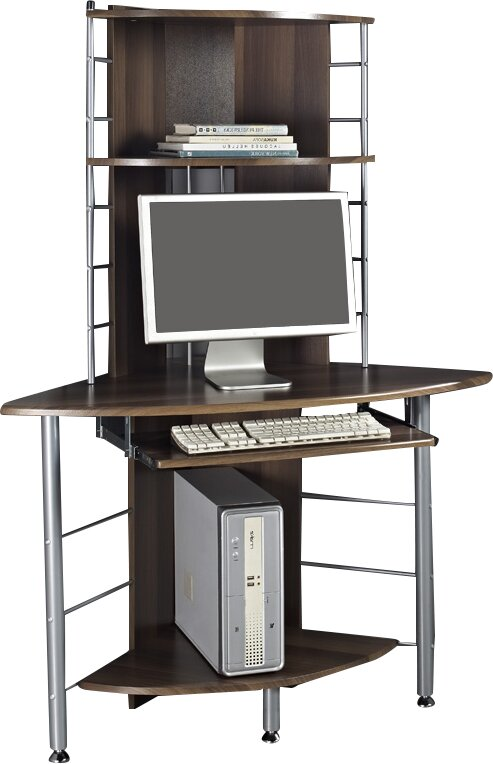 Home Amp Haus Computer Desk With Keyboard Tray Amp Reviews