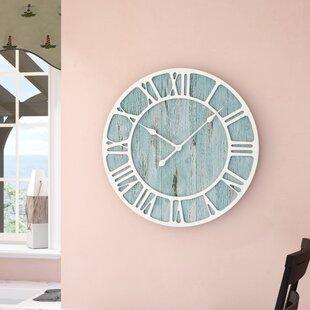 Rosalinde Oversized 23 5 Coastal Decorative Quartz Wall Clock