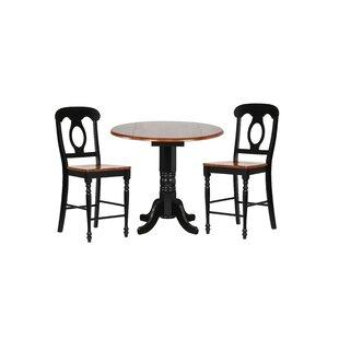 Lockwood 3 Piece Adjustable Pub Table Set