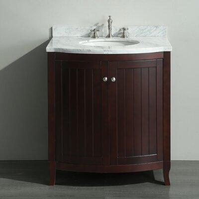 """Ziemlich Bathroom Vanities simpli home winston 31"""" single rounded front bathroom vanity set"""