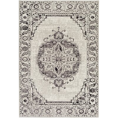Mistana Tierney Gray/Black Area Rug Rug Size: Rectangle 1'10 x 2'11