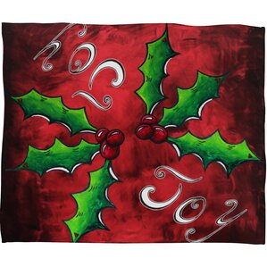 madart inc mistletoe joy plush fleece throw blanket