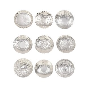 9 Piece Stainless Steel Decorative Plate Set  sc 1 st  Wayfair & Decorative Plates You\u0027ll Love | Wayfair