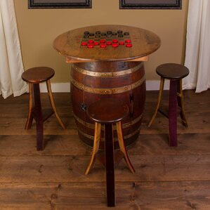 Whiskey Barrel 5 Piece Pub Table Set