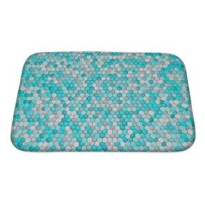 Creek Hexagon For Bathroom Pattern Bath Rug