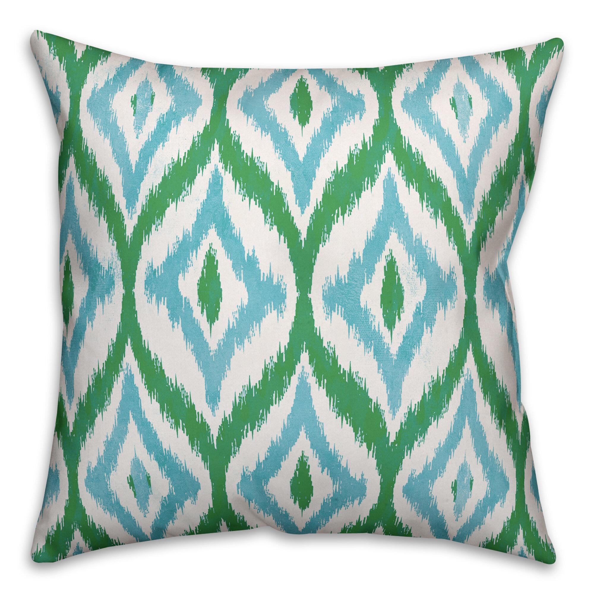Wrought Studio Linus Ikat Outdoor Throw Pillow Wayfair Ca