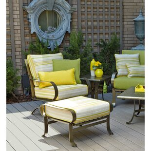 Cascade Patio Chair and Ottoman with Cushions & Outdoor Chair With Ottoman | Wayfair
