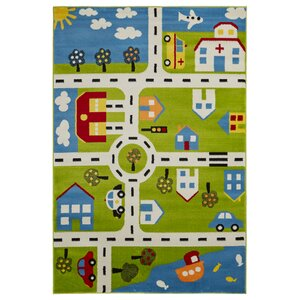 Gulf City Green/Blue Area Rug