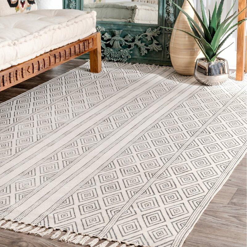 Off white area rug Wool Joss Main Dunkirk Handmade Off White Area Rug Reviews Joss Main