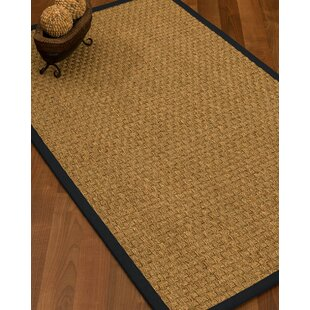 Antiqua Border Hand Woven Beige Midnight Blue Area Rug