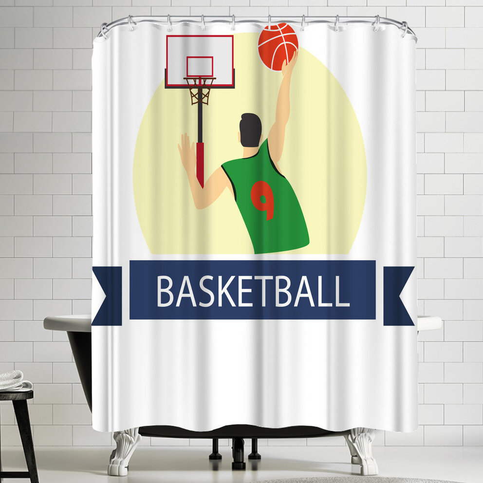 East Urban Home Wonderful Dream Basketball Sport Game Shower Curtain