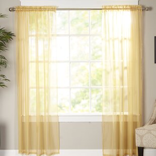 Solid Sheer Curtain Panels (Set of 2) 65667ce20b07