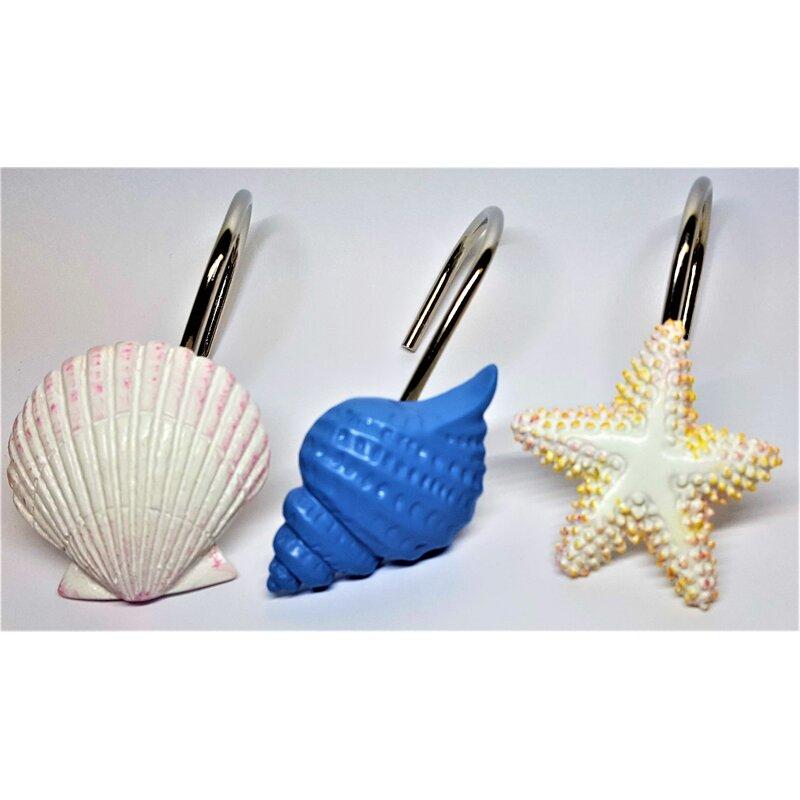 Sea Shells And Stars Shower Curtain Hooks