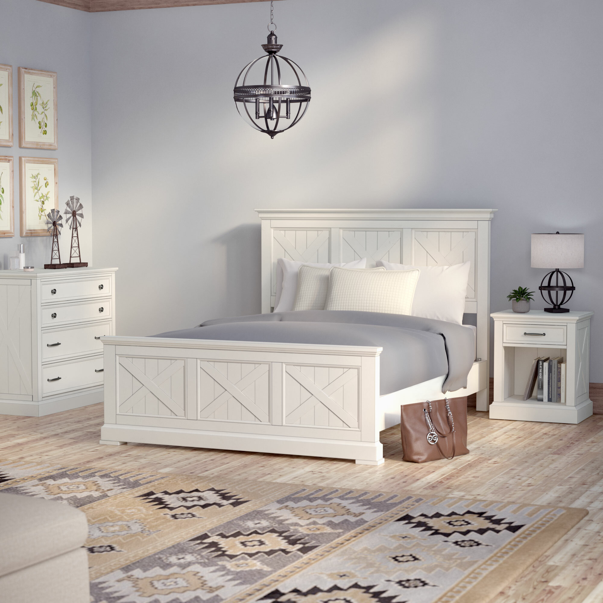 Laurel Foundry Modern Farmhouse Moravia Standard 3 Piece Bedroom Set Wayfair