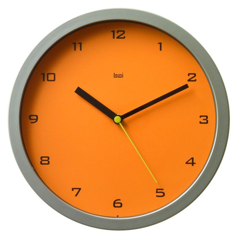 "Designer Wall Clock bai design 10"" gotham designer wall clock & reviews   wayfair"
