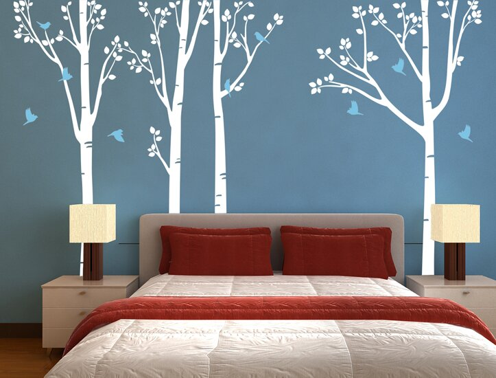 Pop Decors Nature Tree Forest Wall Decal Reviews Wayfair - Wall decals nature
