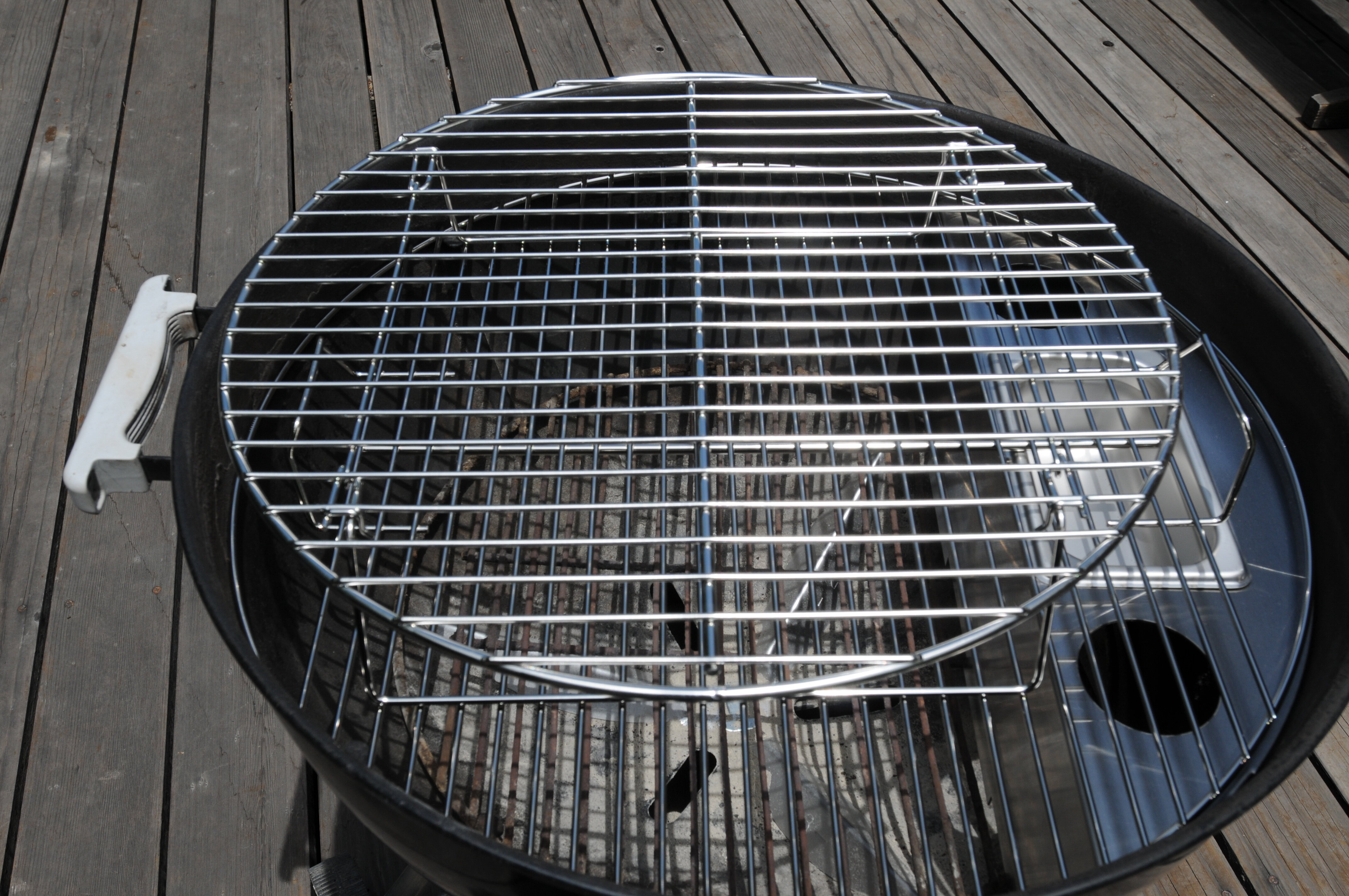 itm use grilling weber grill bbq warming stainless charcoal inch rack with grate for smoking kettle accessory expansion steel