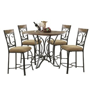Bock 5 Piece Counter Height Dining Set