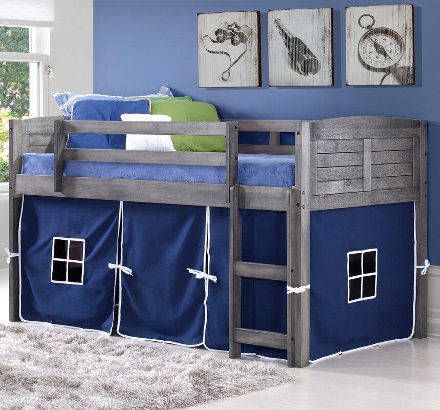 Loft Bed Images donco kids twin low loft bed & reviews   wayfair