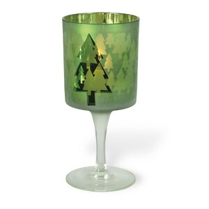 Glam Green Glass Votive