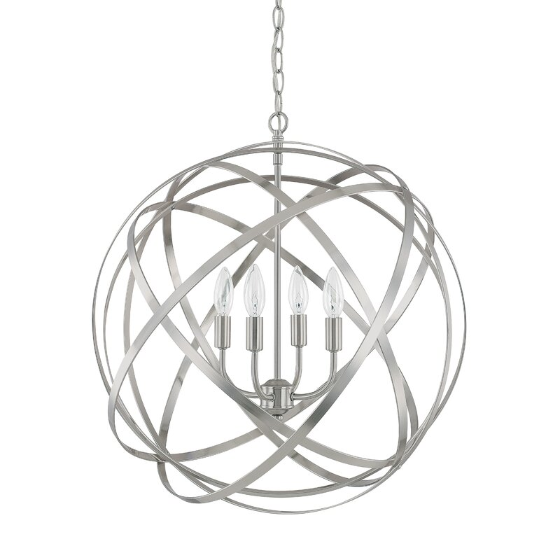 Laurel Foundry Modern Farmhouse Kierra 4 Light Globe Pendant